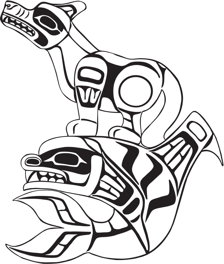 tlingit totem poles coloring pages - photo#9